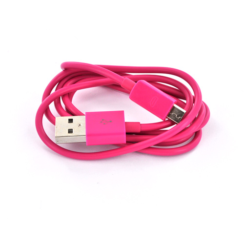 Micro USB Hyperbolic Hot Pink Charging Bundle w/ Hot Pink Micro USB Charge/ Sync Data Cable & Hot Pink USB Car Charger Adapter