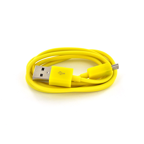 Micro USB Young Yellow Charging Bundle w/ Yellow Micro USB Charge/ Sync Data Cable & Yellow USB Car Charger Adapter