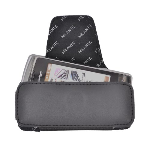 Premium Universal Horizontal Leather Pouch w/ Magnetic Closure - Black (BL)