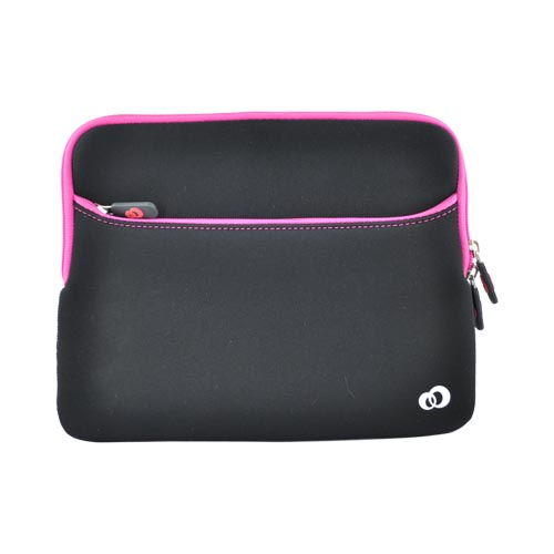 Original Kroo USA Apple iPad (All Gen.) Neoprene Glove 2 Sleeve Case, MIPAG2M1 - Hot Pink/Black