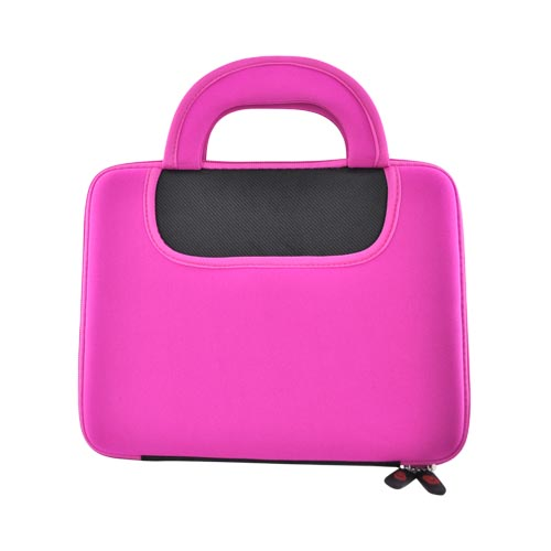Original Kroo USA Apple iPad (All Gen.) Neoprene Dice Sleeve Case 2 w/ Handle, MIPAN2M1 - Black/Hot Pink