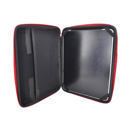 Original Kroo USA Apple iPad (All Gen.) Cube Sleeve Case, MIPANYR1 - Black/Red