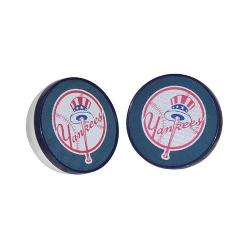 Original iHip Universal MLB Licensed New York Yankees Portable Spherical Speakers (3.5mm), MLV4000NYY - Blue/ White/ Red