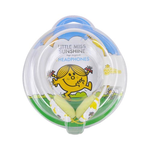Original Mr. Men/ Little Miss Sunshine Universal 3.5mm Headphones, MML-601-LMS - Little Miss Sunshine
