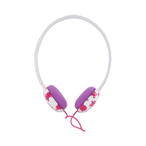 Original Mr. Men/ Little Miss Sunshine Universal 3.5mm Headphones, MML-601-MRM - Hot Pink Mr. Messy