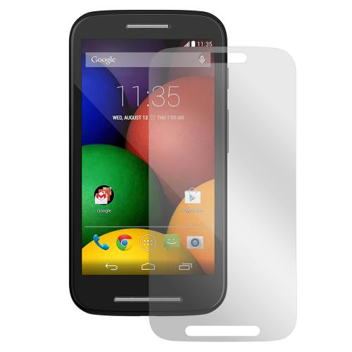 Essential Starter Bundle Package for Motorola Moto E w/ Black Rubberized Hard Case, Screen Protector, Portable Stand, Car & Travel Charger
