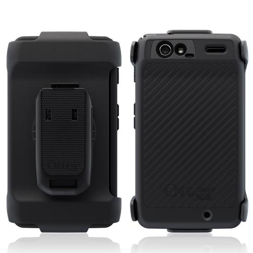 Original Otterbox Defender Series Motorola Droid RAZR Silicone Over Hard Case w/ Holster & Built-In Screen Protector, MOT2-RAZR1-20-E40TR - Black