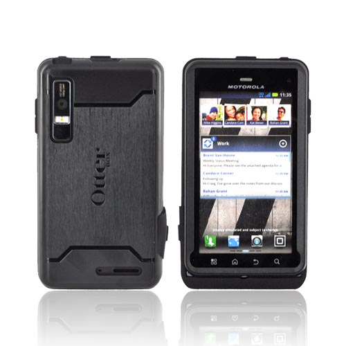 Original Otterbox Motorola Droid 3 Silicone Case Hard Shell w/ Screen Protector, MOT4-DROD3-20-E4OTR - Black