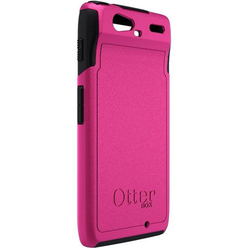 Original Otterbox Commuter Series Motorola Droid RAZR Hard Cover Over Silicone Case w/ Screen Protector, MOT4-RAZR1-B6-E4OTR - Hot Pink/ Black