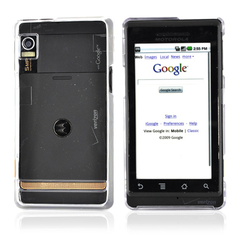 Original Verizon Motorola Droid A855 / Milestone Snap-On Hard Cover - Transparent Clear, MOTA855COVC