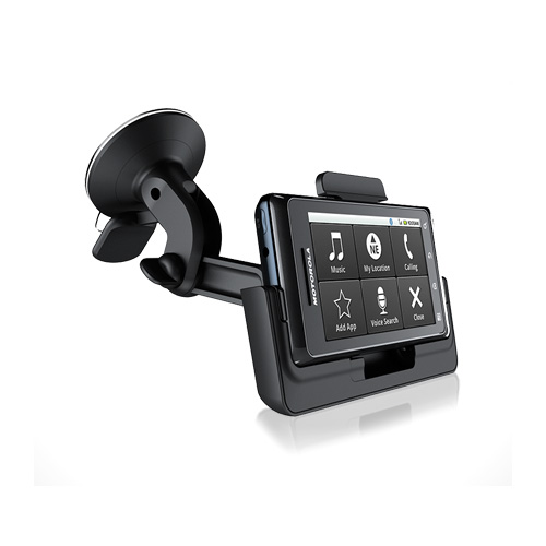 Motorola Droid 2 / Droid Car Window Mount Holder w/ AUX Audio Cable, MOTDRDMNT - Black