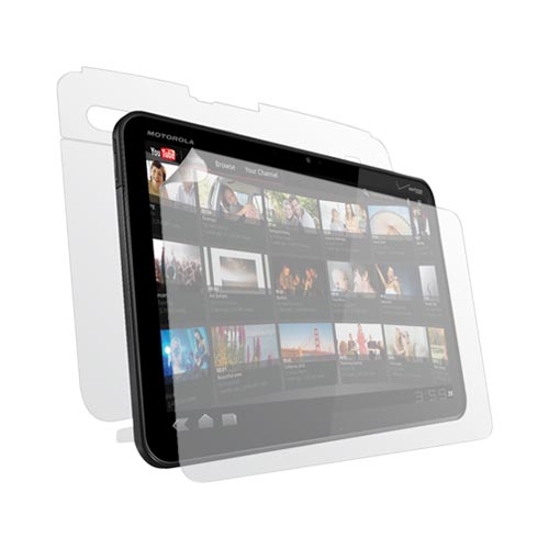 Original Clear-Coat Motorola Xoom Protective Body Scratch-Proof Film, MOTOXOOMFB - Clear