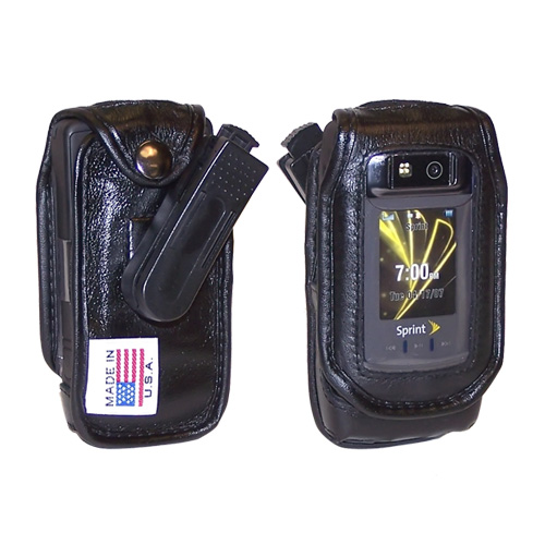 Original TurtleBack Premium Motorola Renegade V950 Leather Case w/ Swivel Belt Clip - Black