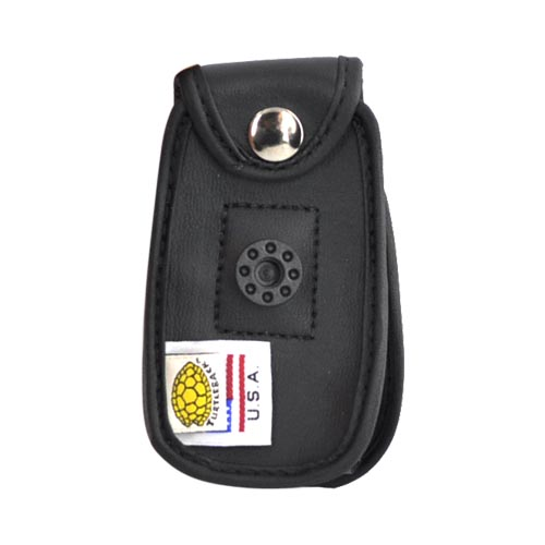 Original Turtleback Motorola Quantico W845 Premium Leather Case w/ Swivel Belt Clip - Black