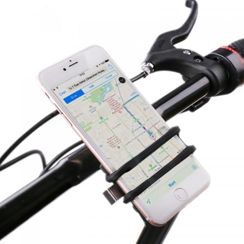 Universal Bicycle/ Stroller Mount Holder for Phones 4-6 inches [Black] - Go Hands Free!