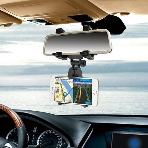 Car Rearview Mirror Mount Holder Stand Cradle For Cell Phone/ GPS [Black]