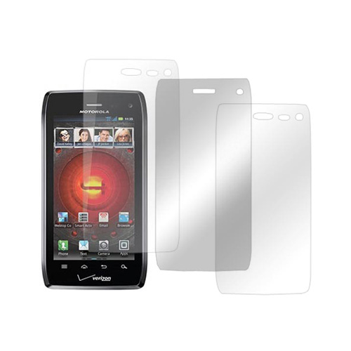 Motorola Droid 4 Screen Protector Medley w/ Regular, Anti-Glare, & Mirror Screen Protectors