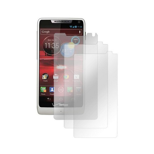 Motorola Droid RAZR M Screen Protector Medley w/ Regular, Anti-Glare, & Mirror Screen Protectors
