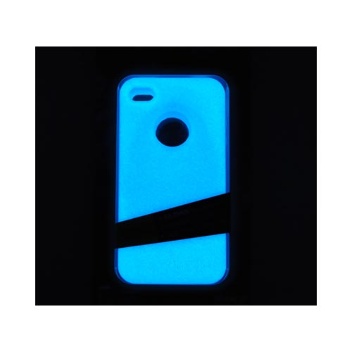 Original MoonSkins AT&T/ Verizon Apple iPhone 4, iPhone 4S Glow-In-The-Dark Crystal Silicone Case, MSK-MV01-01 - Violet