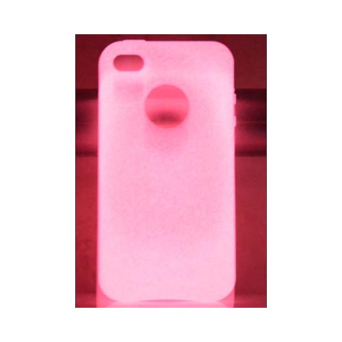 Original MoonSkins AT&T/ Verizon Apple iPhone 4, iPhone 4S Glow-In-The-Dark Crystal Silicone Case, MSK-SR01-01 - Red