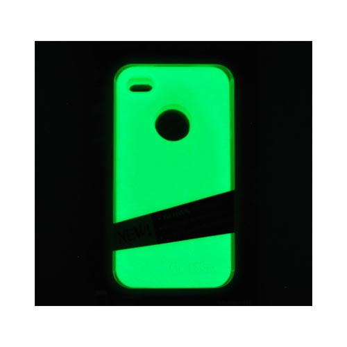 Original MoonSkins AT&T/ Verizon Apple iPhone 4, iPhone 4S Glow-In-The-Dark Crystal Silicone Case, MSK-WG01-01 - Green