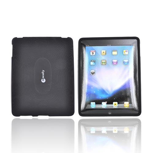 Original Macally Apple iPad (1st Gen) 1st Silicone Case, MSUITPAD - Black