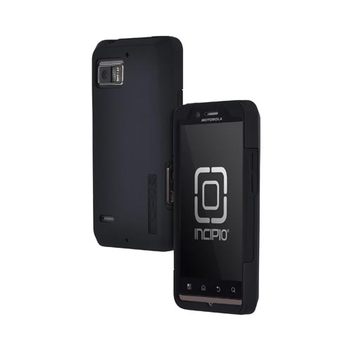 Original Incipio Silicrylic Motorola Droid Bionic XT875 Dual Hard Case on Silicone w/ Screen Protector, MT-139 - Black