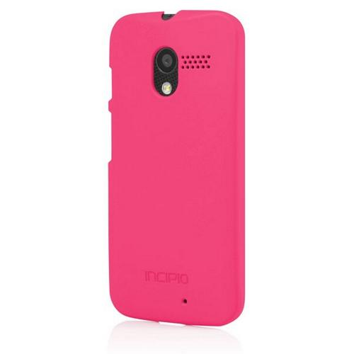 Incipio Hot Pink Feather Series Rubberized Hard Case w/ Screen Protector for Motorola Moto X - MT-238