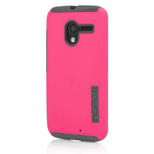 Incipio Hot Pink/ Gray Dual PRO Series Rubberized Hard Case on Silicone for Motorola Moto X - MT-244