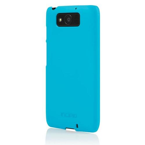 Incipio Cyan (Blue) Feather Series Rubberized Hard Case for Motorola Droid Ultra - MT-274