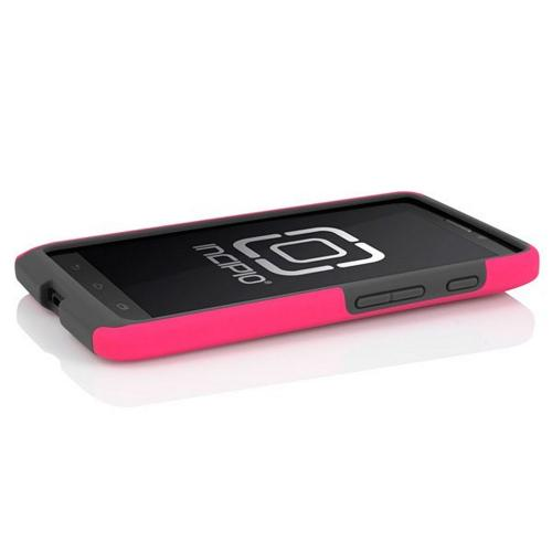 Incipio Hot Pink/ Gray Dual PRO Series Rubberized Hard Case on Silicone for Motorola Droid Ultra - MT-280