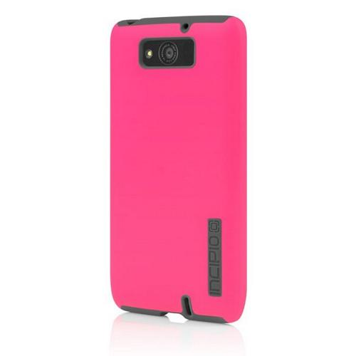 Incipio Hot Pink/ Gray Dual PRO Series Rubberized Hard Case on Silicone for Motorola Droid Maxx - MT-299