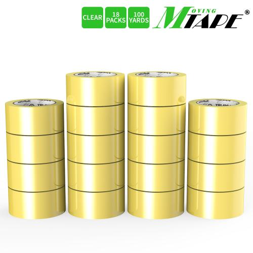 Moving / Storage Tape, 18 Rolls of Commercial Grade [M Tape- CLEAR] Value Bundle for Heavy Duty Packaging [1.9 Inches x 100 Yards]