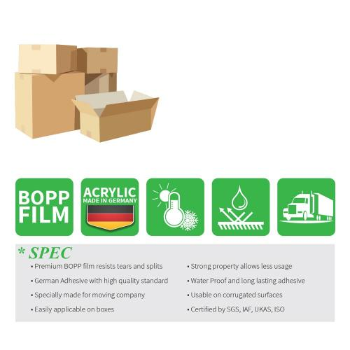 Moving / Storage Tape, 3 Rolls of Commercial Grade [M Tape- BEIGE] Value Bundle for Heavy Duty Packaging [1.9 Inches x 50 Yards]