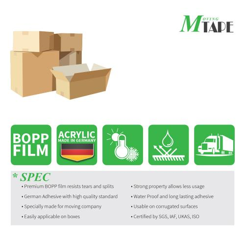 Moving / Storage Tape, 6 Rolls of Commercial Grade [M Tape- CLEAR] Value Bundle for Heavy Duty Packaging [1.9 Inches x 50 Yards]
