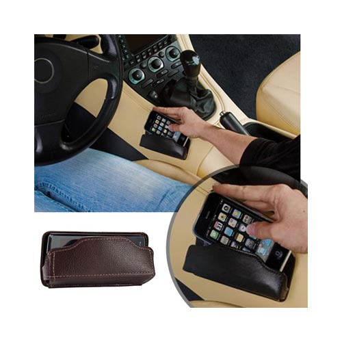 Original MobiValet™ Universal Faux Leather Holder (PUTL), MVBFL - Brown