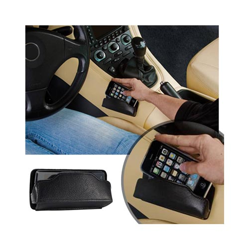 Original MobiValet™ Universal Faux Leather Holder (PUTL), MVBRFL - Black