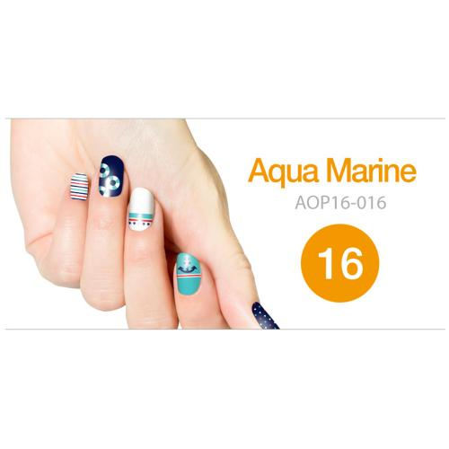 Art Ongle Nail Polish Strips, Nail Color [Aqua Marine]