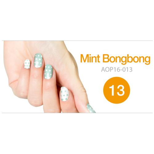 Art Ongle Nail Polish Strips, Nail Color [Mint Bongbong Dots]