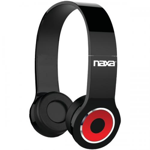 NAXA NE-932 BK Bluetooth(R) Wireless Headphones (Black)
