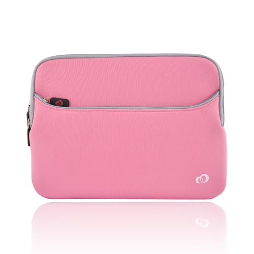 Premium Apple iPad (1st Gen) Nylon Sleeve Case - Baby Pink (business card , flaps inside