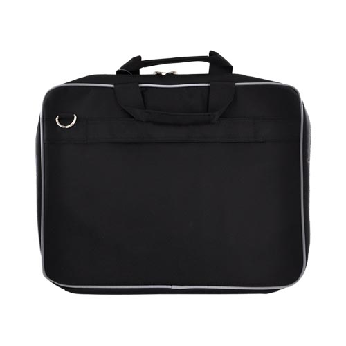 "Original Kroo 15.6"" Notebook PINN Series Nylon Bag w/ Reinforced Frame, ND15PNK1 - Black/ Gray"