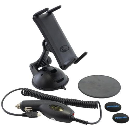 Arkon Black INTELLIGRIP Android Programmable NFC Powered Car Dock Bundle