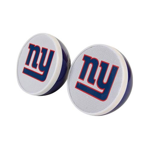 Original iHip NFL Licensed New York Giants Portable Spherical Speakers (3.5mm), NFV4000NYG - Blue/ White/ Red
