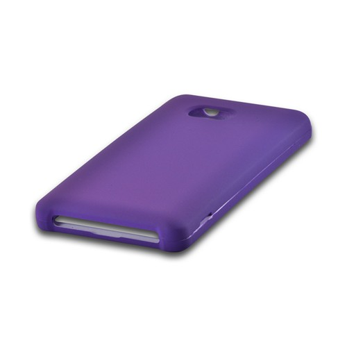 Essential Girly Bundle Package w/ Hot Pink & Purple Rubberized Hard Case, Mirror Screen Protector, Car & Travel Charger for Nokia Lumia 810