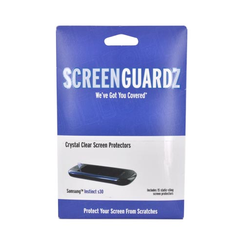 Original ScreenGuardz Samsung Instinct s30 Crystal Clear Screen Protector (15 pack), NL-SSI9-0409