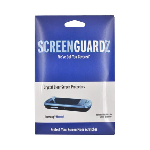 Original ScreenGuardz Samsung Moment M900 Crystal Clear Screen Protector (15 pack), NL-SSM0-1109