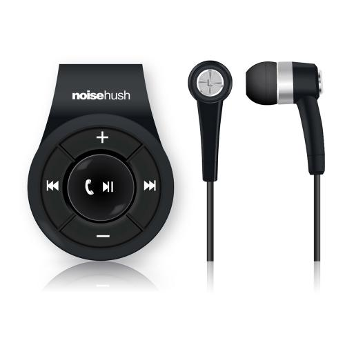 NoiseHush NS560 Clip-on Bluetooth Dongle & Stereo Headset Combo - Perfect for Apple Phone 7 & 7 Plus! [Black]