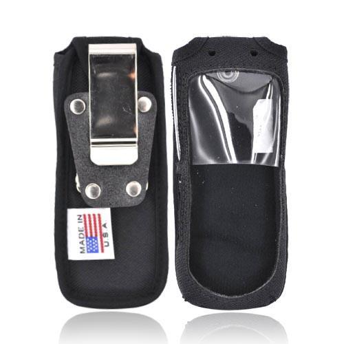 Original TurtleBack Premium Sprint/Nextel Motorola i335 Leather Case w/ Swivel Belt Clip - Black
