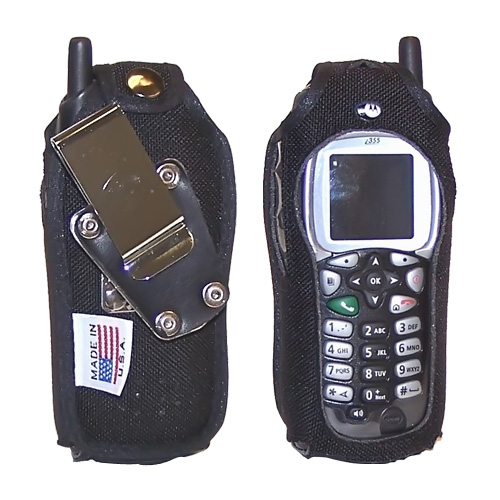 Original TurtleBack Premium Sprint/Nextel Motorola i355 Heavy Duty Nylon Case w/ Steel D-Ring Belt Clip - Black